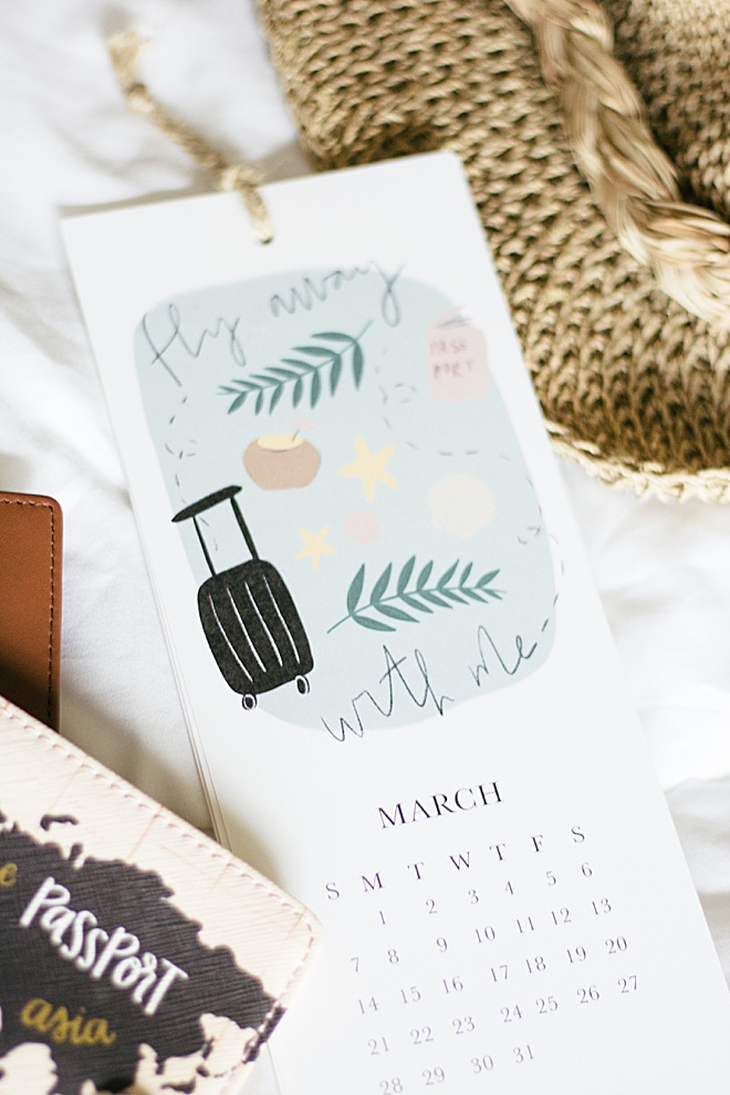 This DIY 2021 illustrated calendar is the cutest way to ring in the new year!