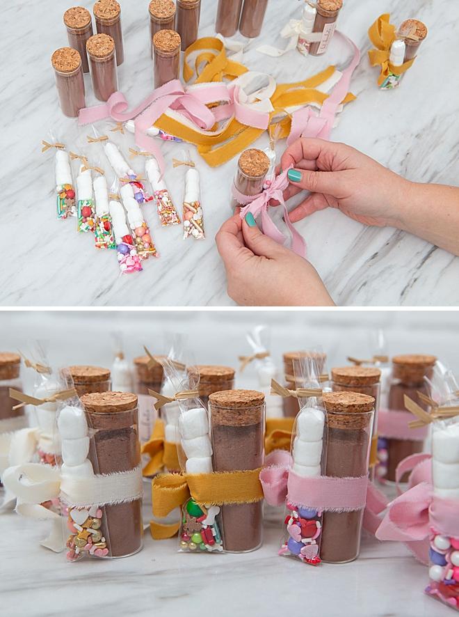 Wedding, baby, and holiday DIY hot chocolate favors!