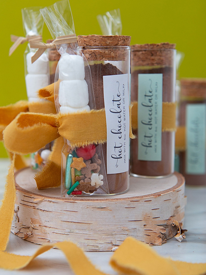 Learn how to make these adorable hot chocolate favors!