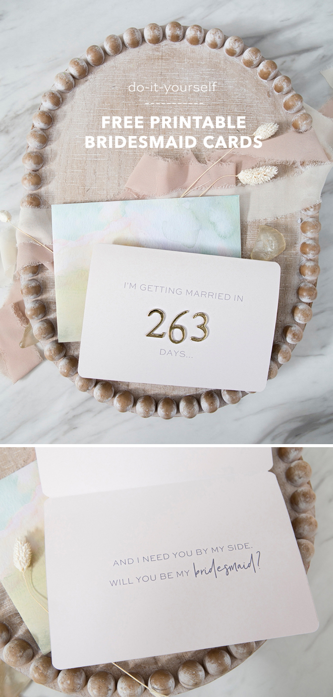 One of our favorite bridesmaid cards! Don't miss our DIY free printable bridesmaid cards to add the perfect touch when you ask your bestie to be your bridesmaid!
