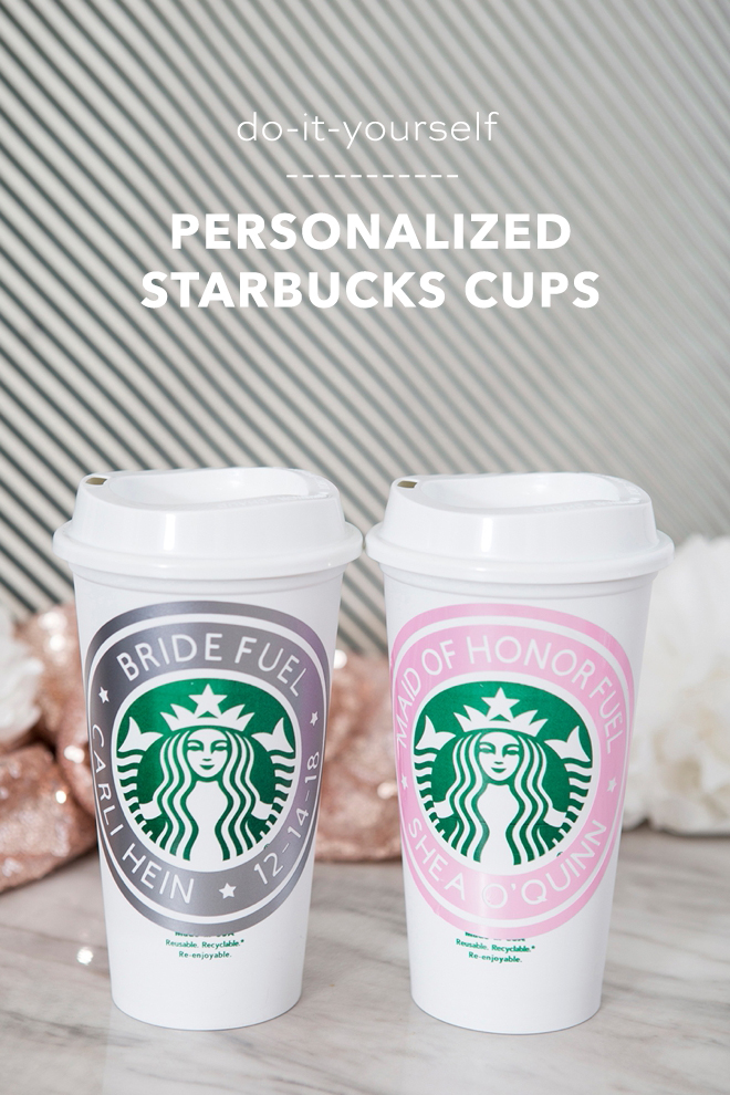 Everyone loves a personalized cup! Check out our do-it-yourself personalized Starbucks cup for your 'Will you be my bridesmaid?' gift!