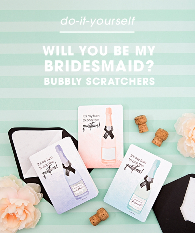 Looking for a cute and unique way to ask your bestie to be your bridesmaid? Our DIY bubble scratch cards are the cutest way! Just add champagne and you're good to go!