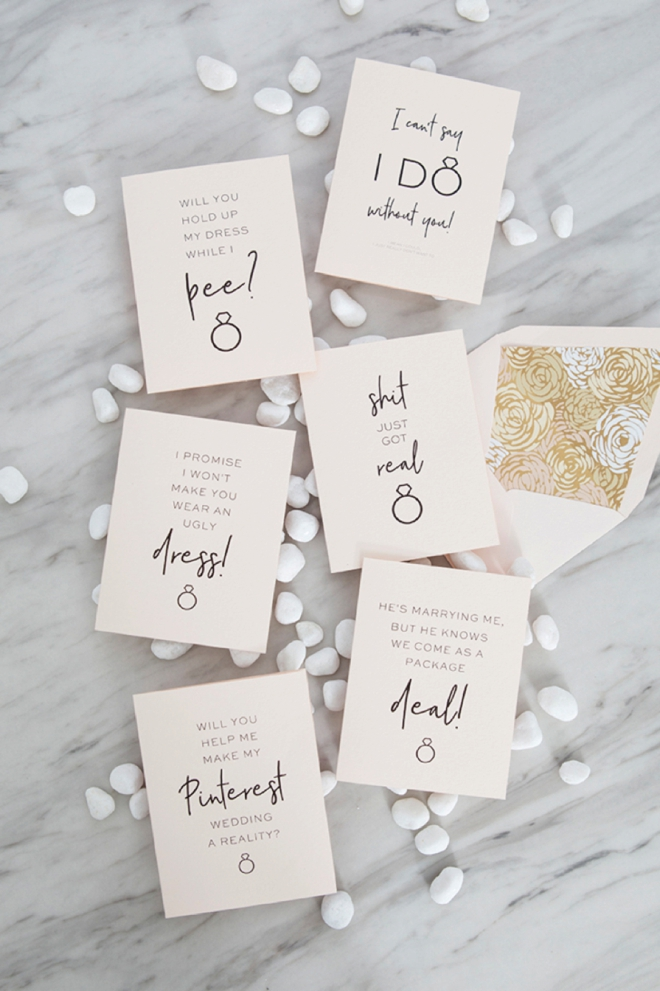 Need the perfect card to go along with your bridesmaid gift? Don't miss our free printable bridal party cards with over 30 designs!