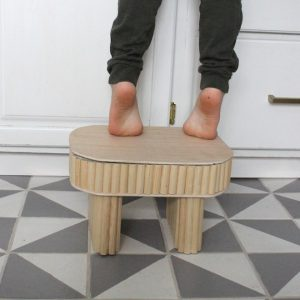 DIY fluted Step Stool - Something Turquoise