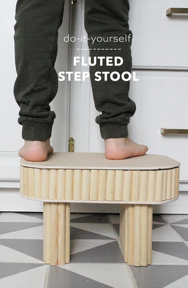 DIY fluted Step Stool - Something Turquoise
