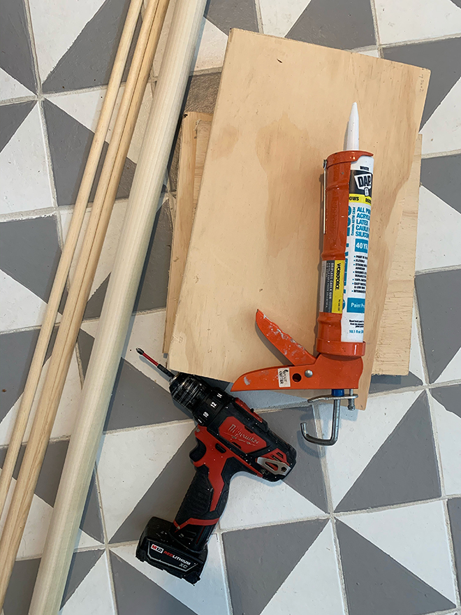 DIY flutted Step Stool - Something Turquoise