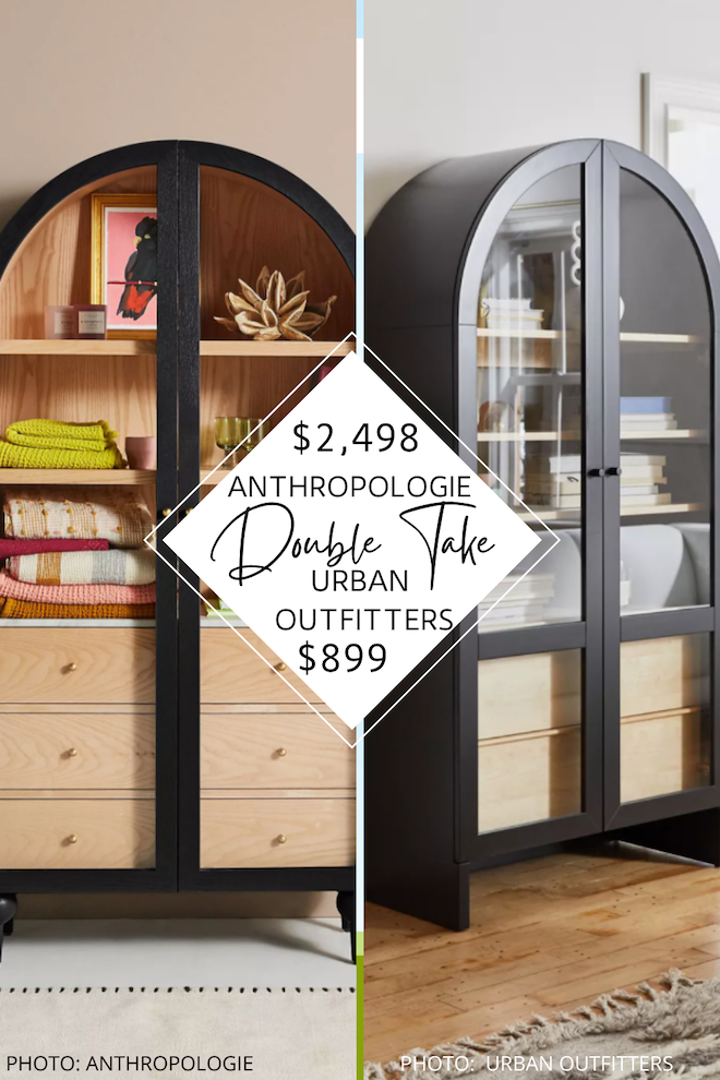 Love Anthropologie dupes? This Anthropologie Fern Storage Cabinet copycat will save you over $1,500 and it looks just like it! If you love looks for less and decorating on a budget, this look-alike is for you. Furniture that looks like Anthropologie but costs way less?! Sign me up. Home organization has never looked so good. #inspo #decor #looksforless #knockoff
