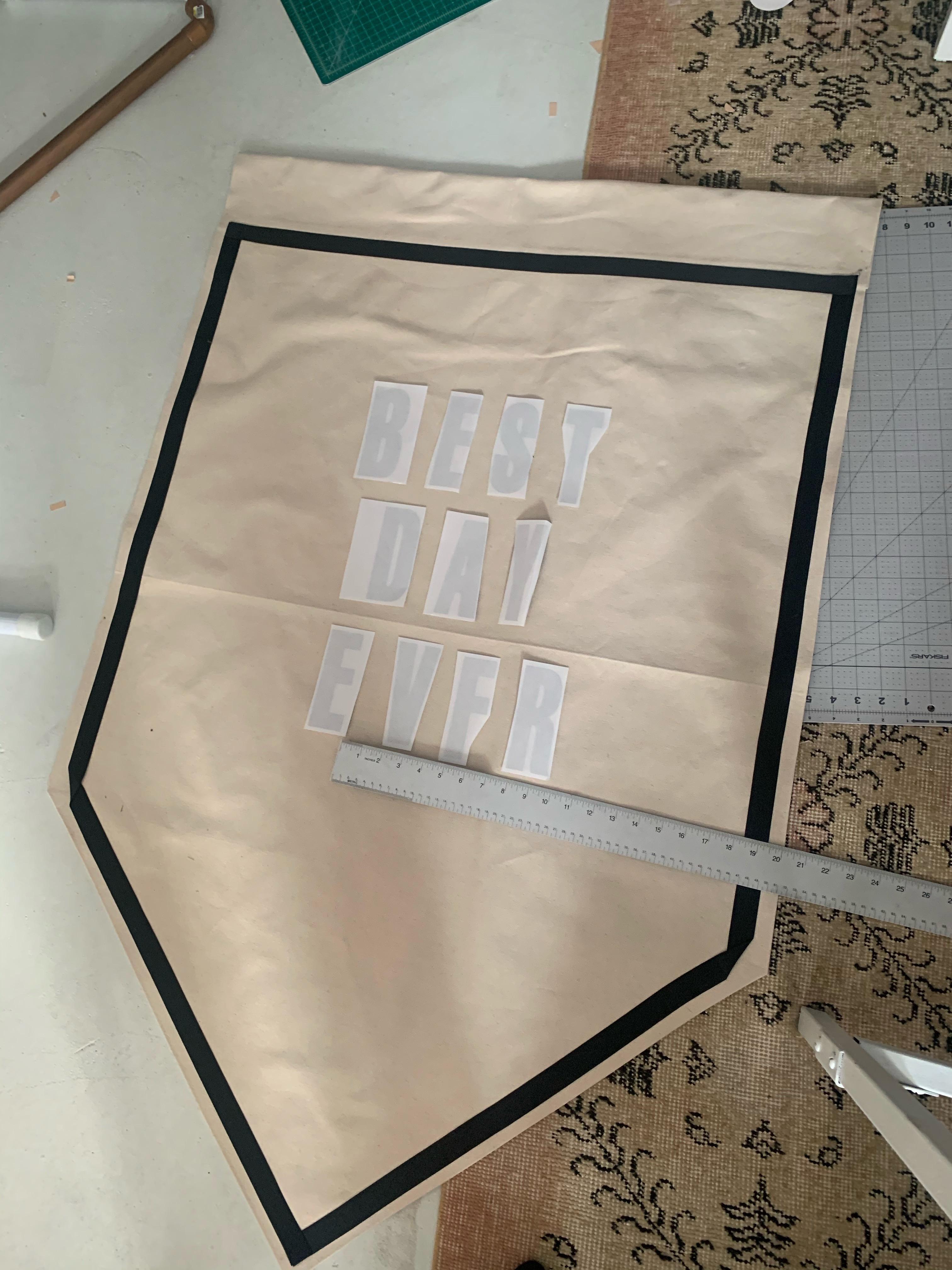 DIY No Sew Wedding Banner