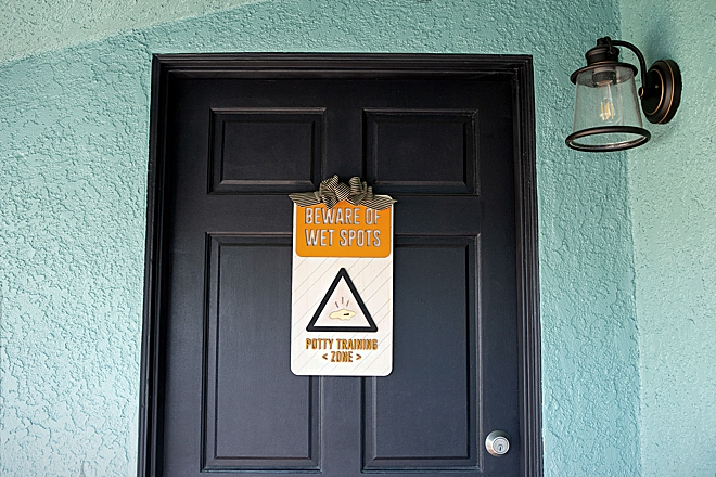 How to make a Potty Training Zone sign for your front door!