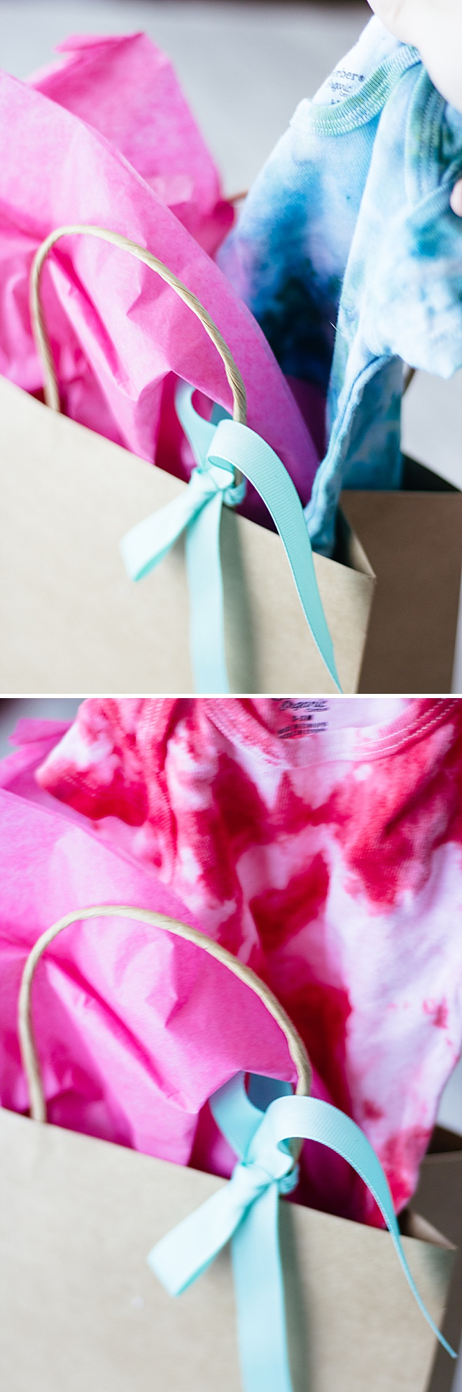 Boy or girl? Reveal your baby gender with this ice-dye DIY!