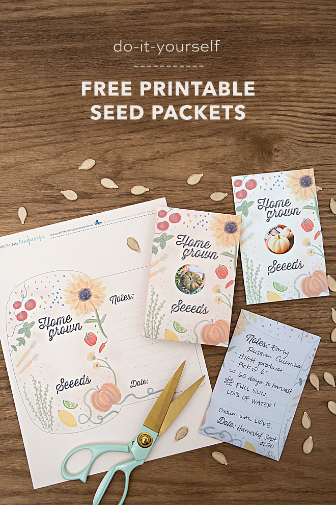Print our adorable seed packets for free!