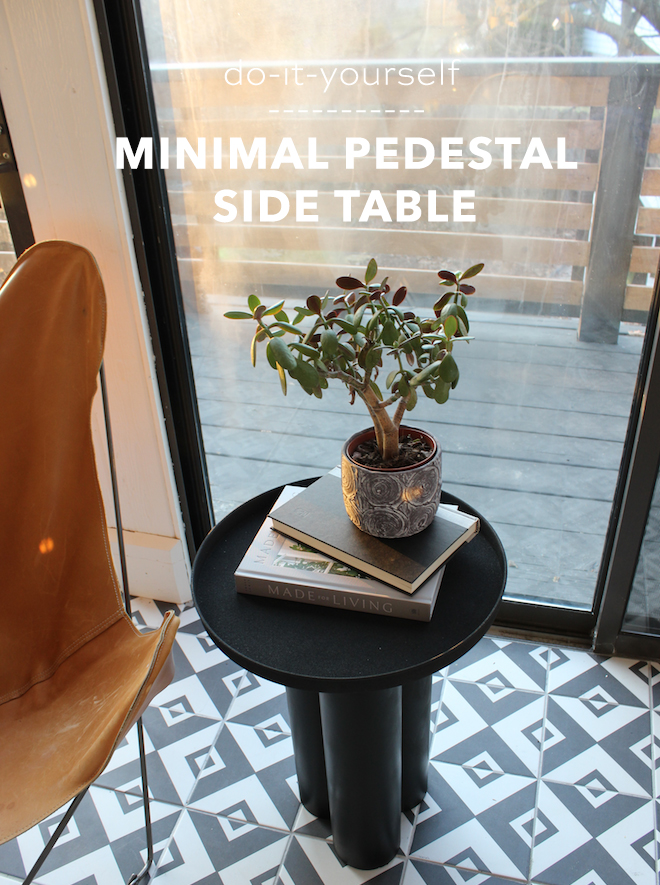 You have to see this simple DIY pedestal table!