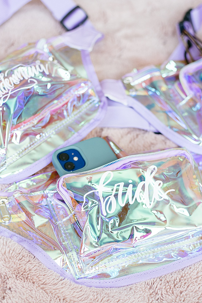 Your bridal party girls will feel so special in their custom fanny packs we are making on the blog today!