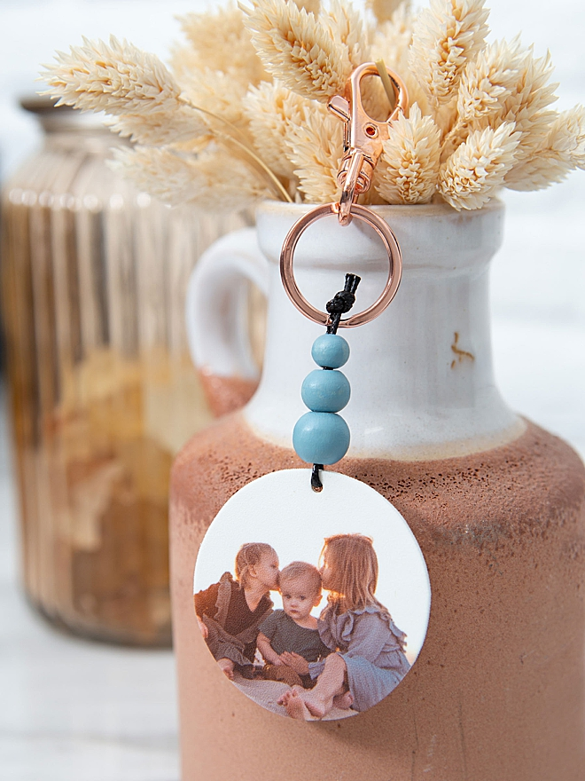Canon PIXMA and Shrinky Dink make these adorable boho keychains!