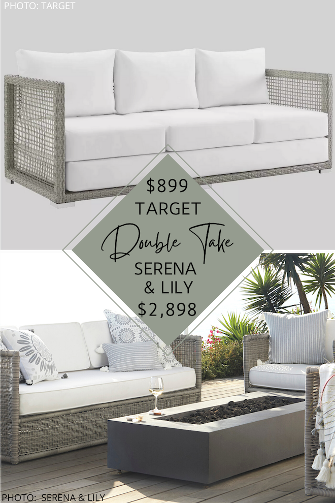 Always dreamed of having a Serena and Lily home? How about a Serena and lily backyard or patio? If you love Serena and Lily, but want the look for less, you've got to see my Serena and Lily Pacifica patio set dupe. It will help you decorate on a budget and the get the backyard or patio decor of your dreams. #inspo #save #design #summer