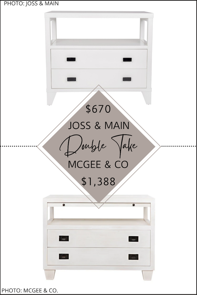 Want McGee & Co. looks for less? Or Studio McGee copycats? If you're decorating on a budget, you need my home decor dupes and copycats in your life. I have a McGee and Co. Ace Nightstand dupe that will save you HALF PRICE and give you the open shelf nightstand look of your modern traditional dreams. #knockoffs #looksforless #design #inspo