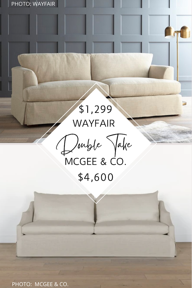 you guys are loving my mcgee & co. dupes, so here's another one for you! this mcgee and co everleigh sofa dupe will save you $3,000 and give you the studio mcgee look for less. if you've always dreamed of having a mcgee and co living room or a mcgee and co office, now is your chance! #inspo #budget #knockoff #lookalike