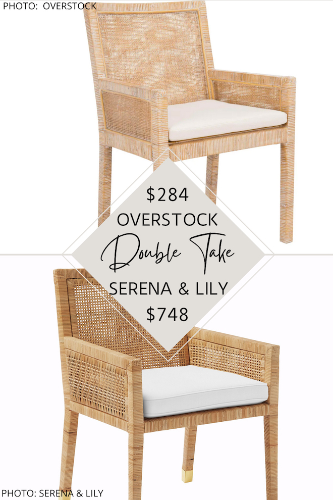 OMG I FINALLY FOUND A SERENA AND LILY DINING CHAIR DUPE! IF YOU LOVE THE SERENA AND LILY BALBOA ARMCHAIRS, YOU NEED TO SEE THIS COPYCAT. THESE CHAIRS WILL GET YOU THE SERENA AND LILY LOOK FOR WAY LESS. I COULD SEE THESE CHAIRS IN A HOME OFFICE, DINING ROOM OR EVEN IN A LIVING ROOM AS AN ACCENT CHAIR. LOVE THE WICKER AND COASTAL STYLE. #INSPO #DECOR #DESIGN #KNOCKOFF #DUPE