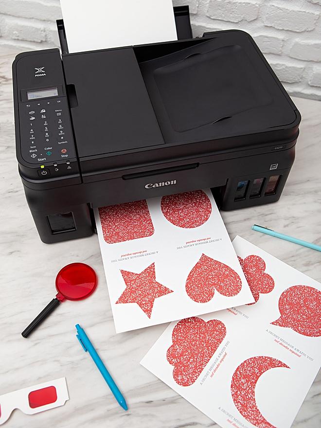 Print your own secret message paper with Canon PIXMA!