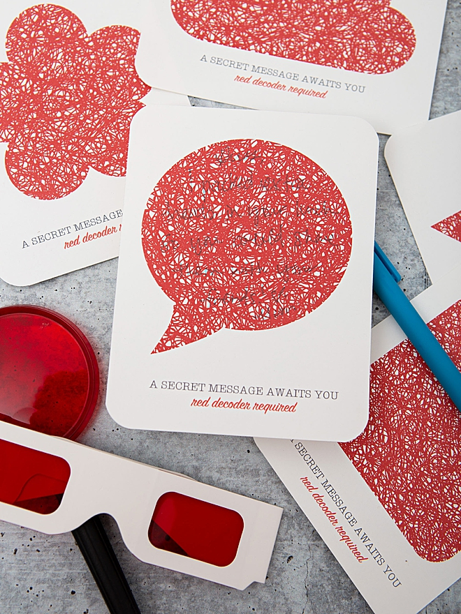 Grab our free printable secret message cards and paper!