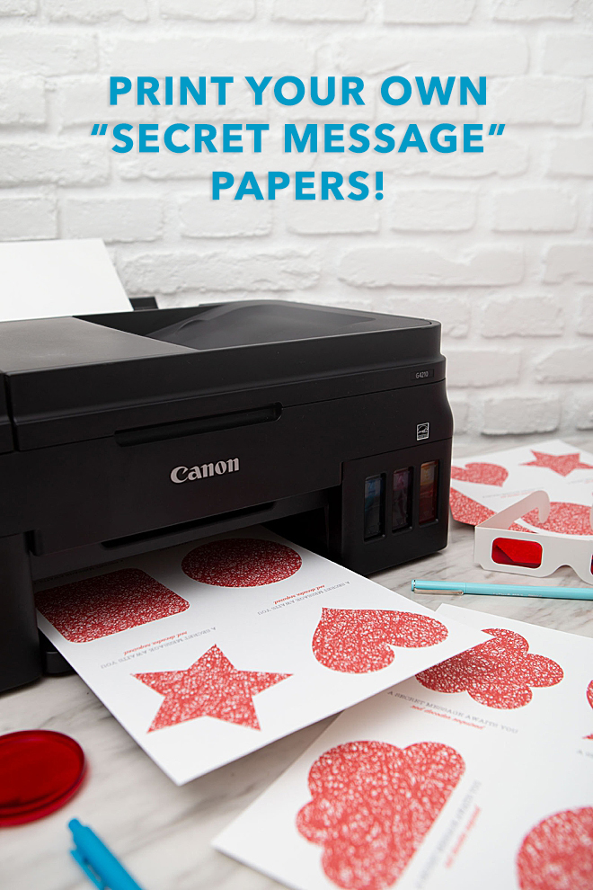 Free printable secret message cards with Canon PIXMA!