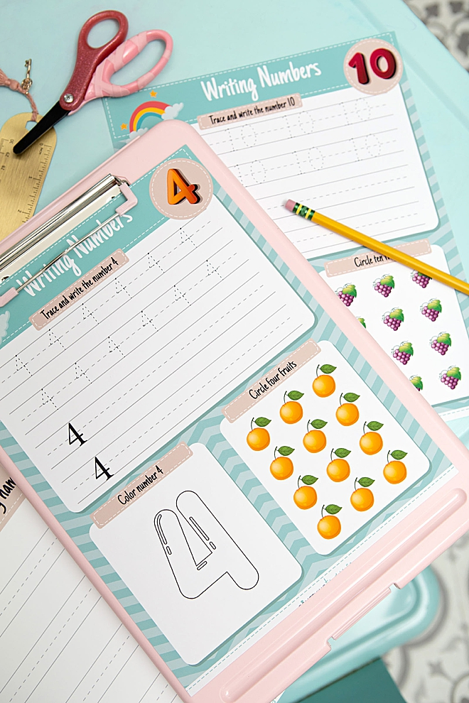 FREE printable kindergarten worksheets, 37 pages!