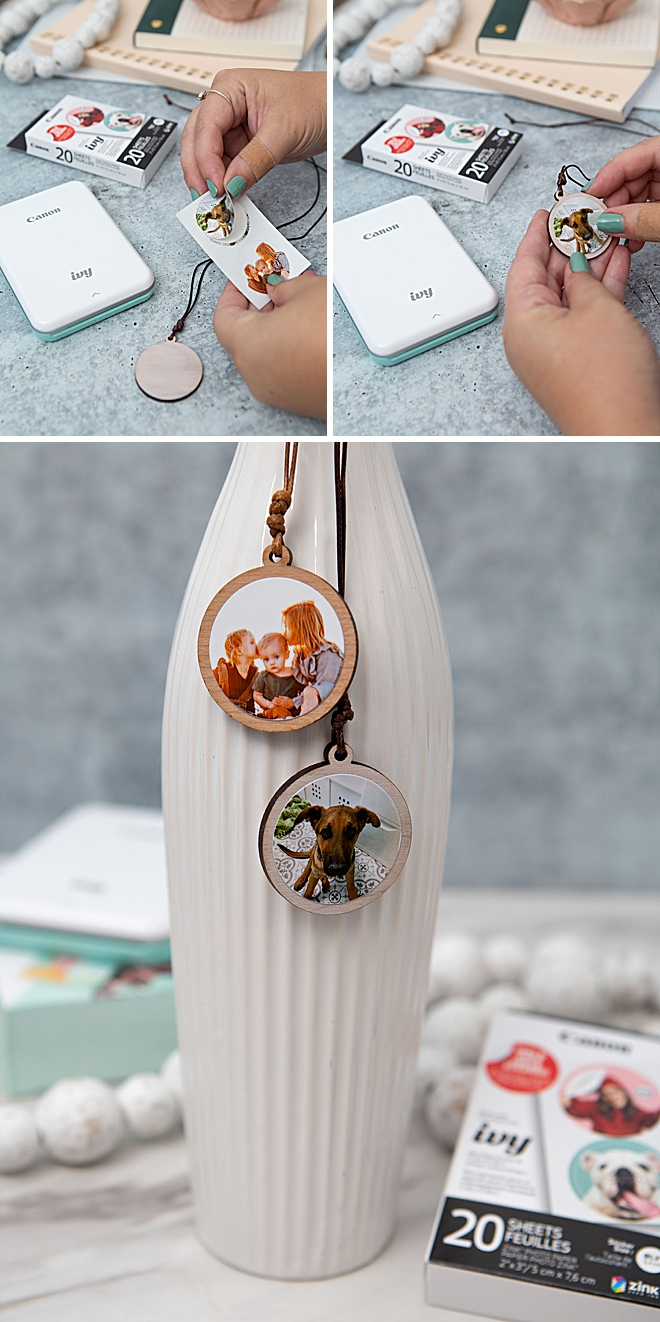 Use Your Canon IVY Stickers To Make Custom Photo Necklaces