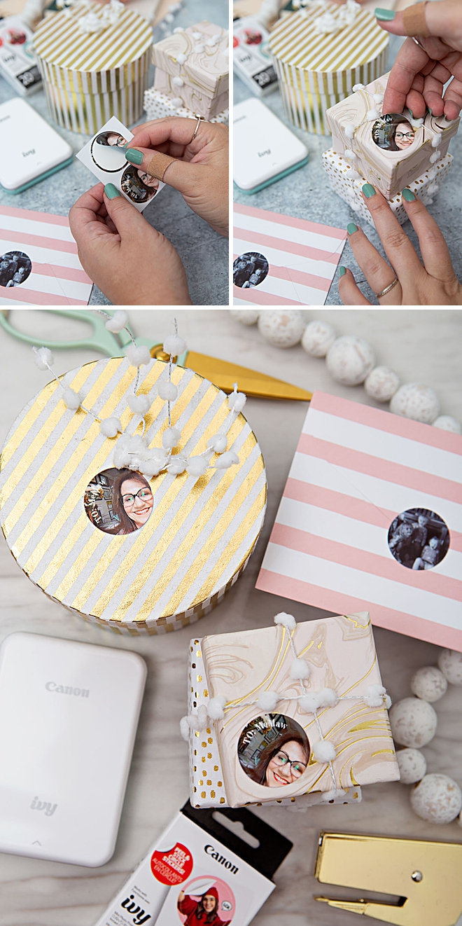 Use Your Canon IVY Stickers To Personalize Your Gift Wrap