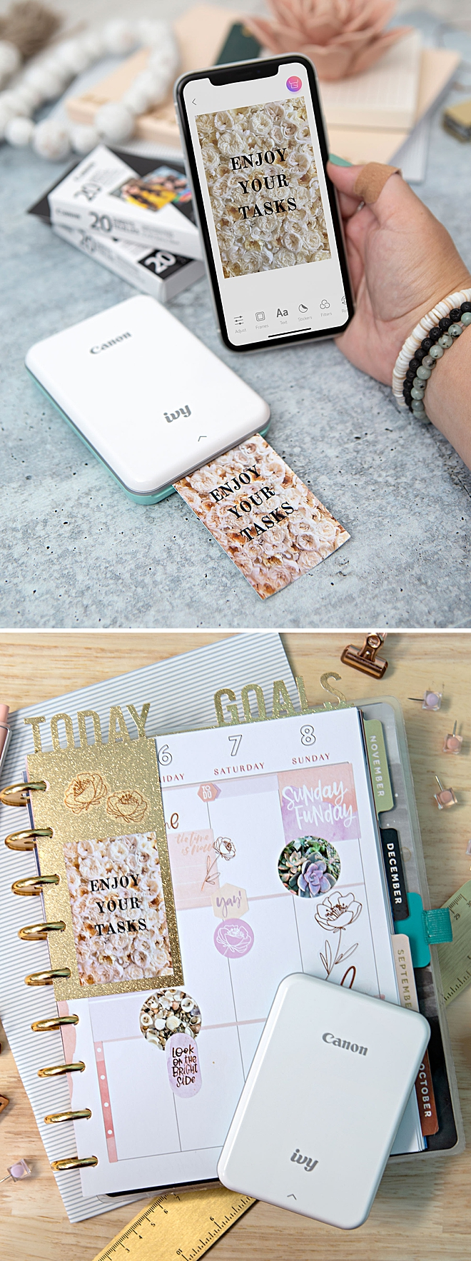 Use Your Canon IVY Stickers To Embellish Your Planner