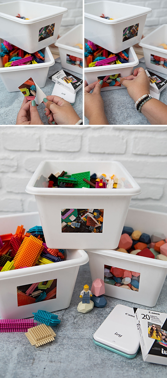 Use Your Canon IVY Stickers To Categorize Toy Bins