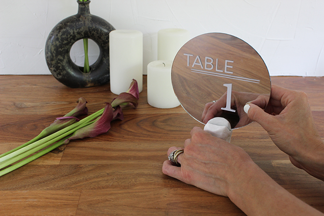 You must see these chic, DIY, modern table numbers