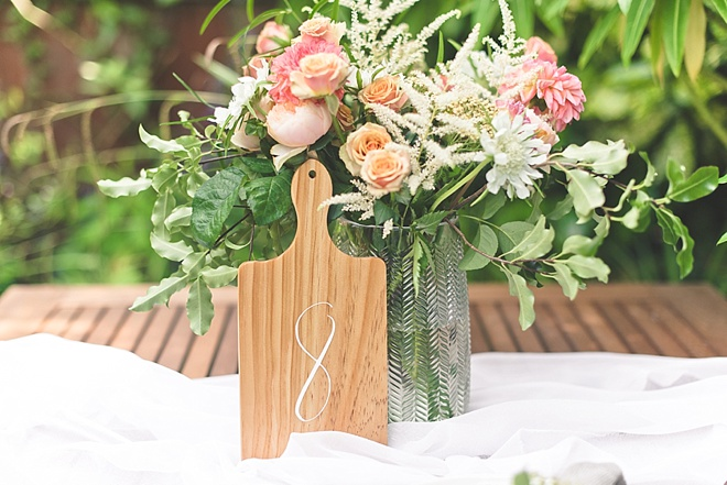 DIY Wedding Table Numbers made with Cricut