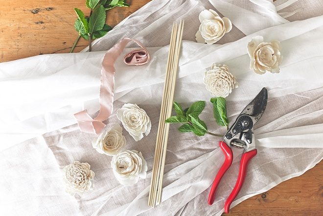 How to Make Pretty Drink Stirrers for Wedding