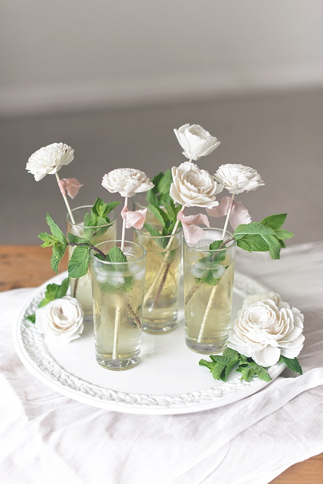 DIY Wedding Drink Stirrers