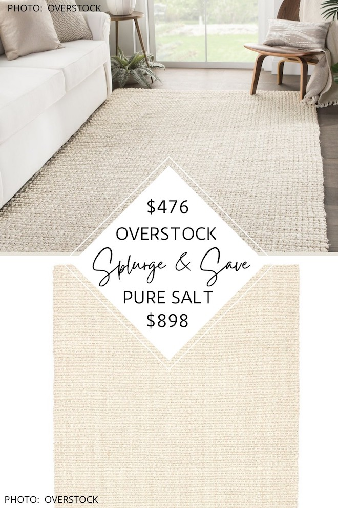 Looking for an affordable jute rug? This Pure Salt Nathan rug dupe is STUNNING! If you're decorating on a budget or want to invest in a quality area rug, this Pure Salt look for less is for you! It's basically the neutral, beachy jute rug of my dreams. #inspiration #decor #knockoff #coastal