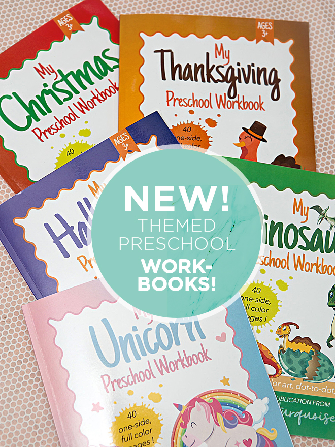 Premium Themed Preschool Workbooks from A Little Turquoise