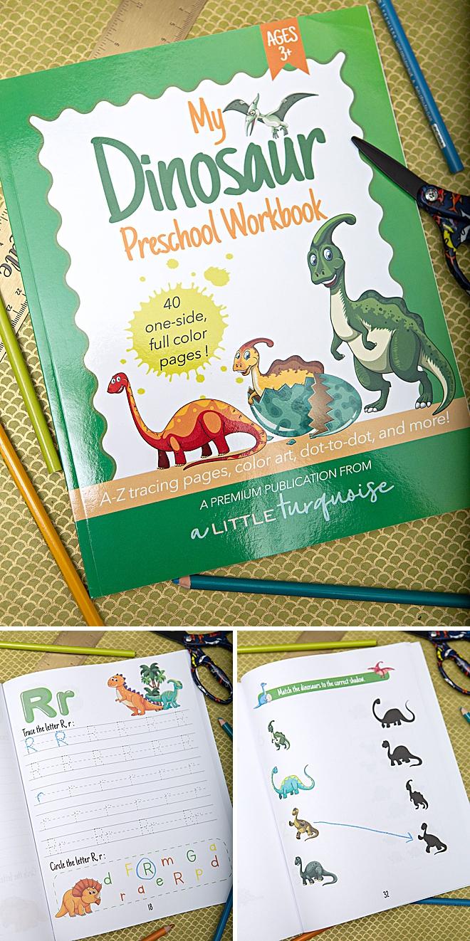 My Dinosaur Themed Preschool Workbook, for 3+