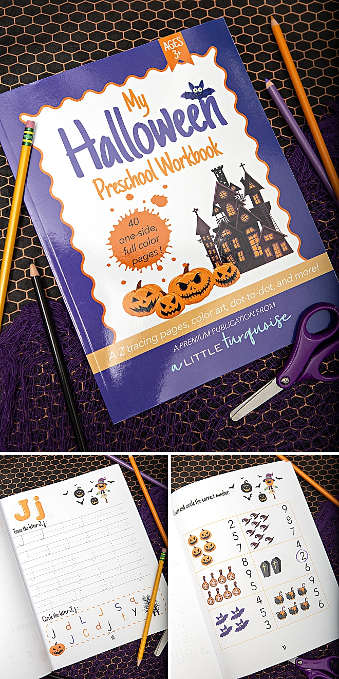 My Halloween Themed Preschool Workbook, for 3+