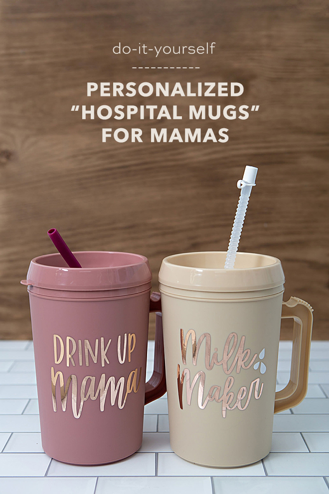 How to personalize hospital style mugs using your Cricut!