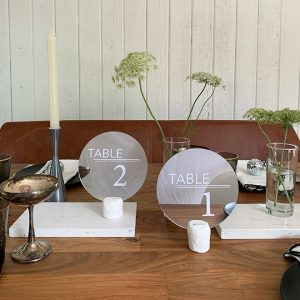 Click of modern table number DIY on Something Turquoise!