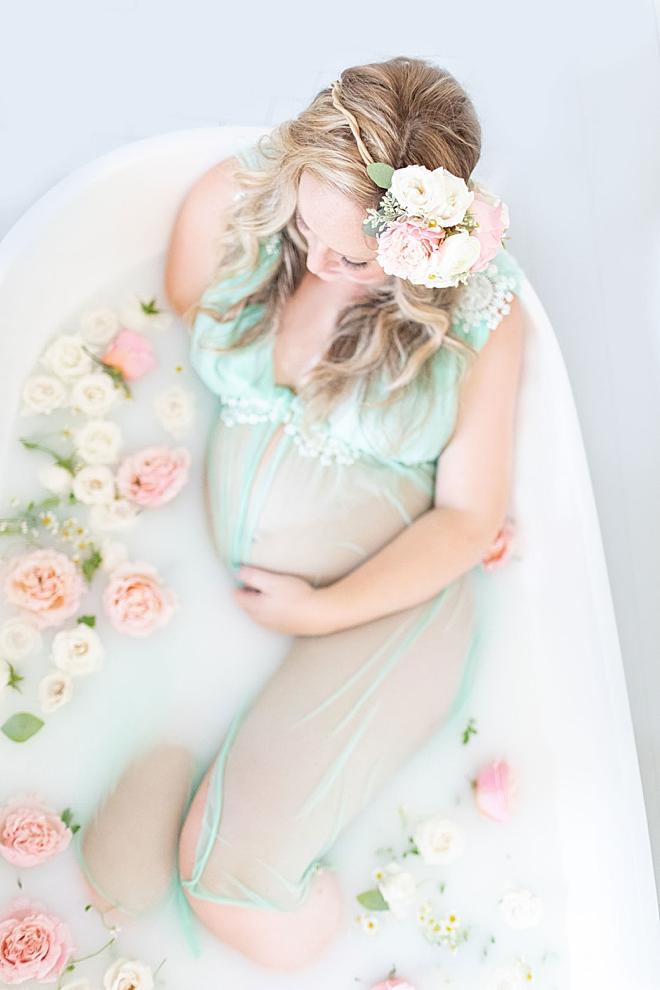 Something Turquoise Maternity Milk Bath with Kristin Eldridge Photography