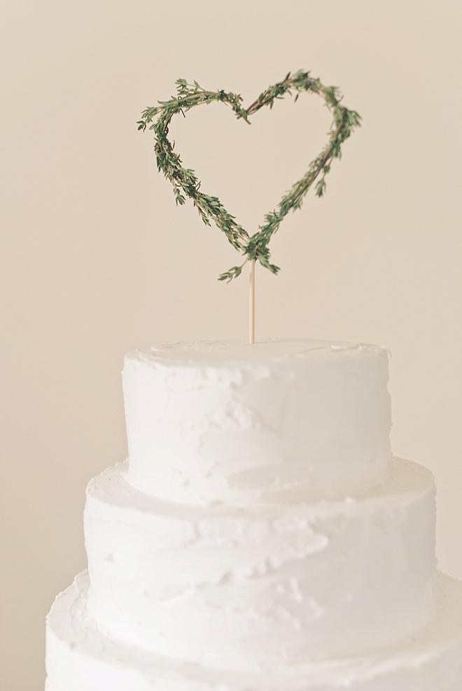 Heart Shaped Wedding Cake Topper