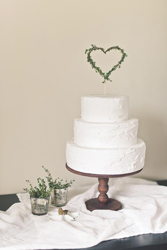 Rustic Herb Wedding Cake Topper DIY