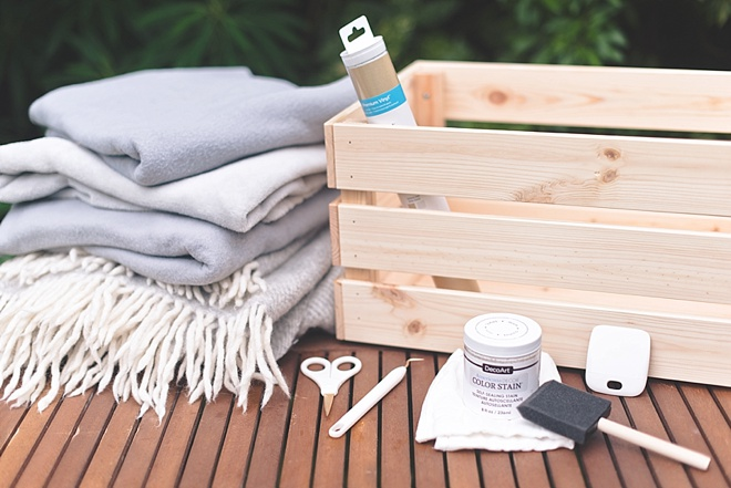 Materials to Make a Wedding Blanket Box with IKEA Knagglig