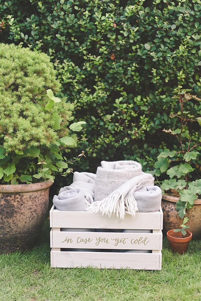 Easy DIY Wedding Blanket Box