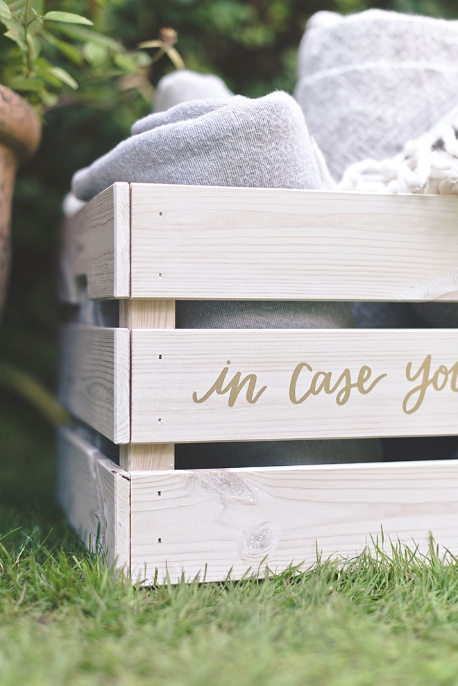 In Case You Get Cold Blanket Box