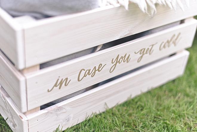 Wedding Blanket Box
