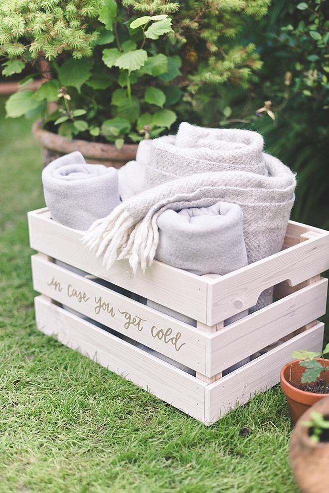 DIY Wedding Blanket Box Crate