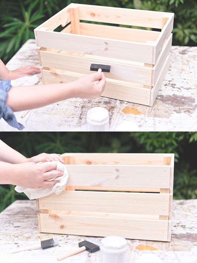How to Stain a Wood Crate