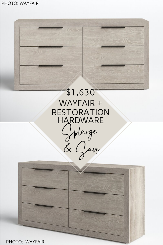 OMG can we talk about this Restoration Hardware dupe?! This Restoration Hardware Machinto dupe will give you the Restoration Hardware bedroom of your dreams and is MAJOR bedroom inspiration. It's modern, transitional, neutral, and wood - all of the things I love most. #decor #design #furniture #knockoff #lookalike